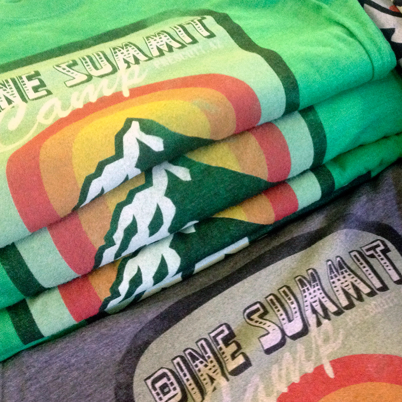 7 color water based print on the Next Level 6210 Men's CVC Crew.