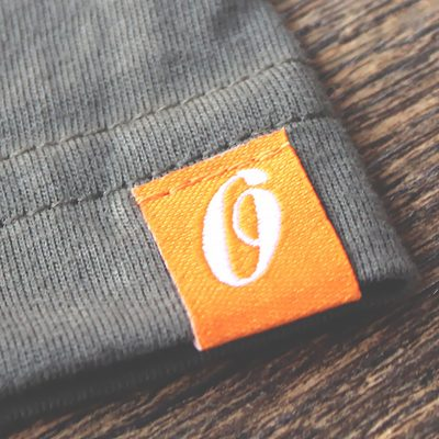 Custom woven tag label for branded tees