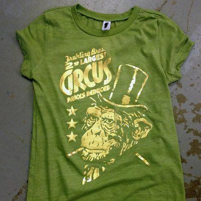 gold mirror foil T shirt